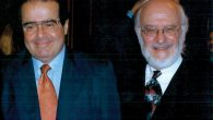 Justice Scalia and Nathan Lewin. Courtesy of Nathan Lewin