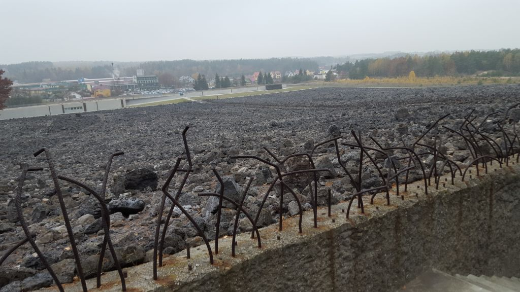 The former Nazi death camp Belzec, in southeast Poland, photographed in November 2015 (Matt Lebovic/The Times of Israel)