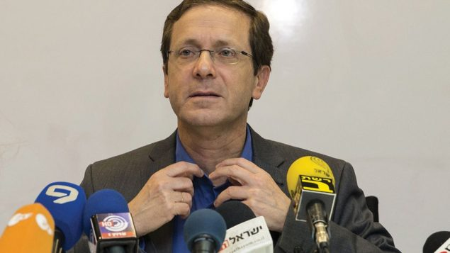 Labor Party leader Isaac Herzog is being criticized from within the party for seeming to abandon the two-state solution. Getty