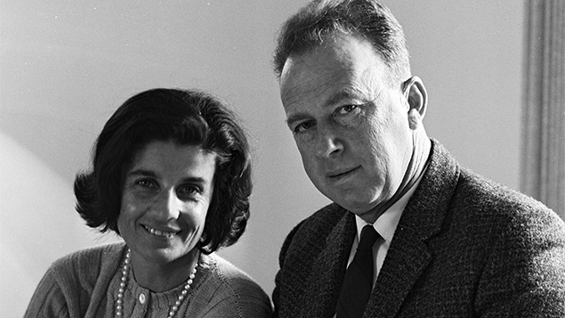 Leah and Yitzhak Rabin, then Israel's ambassador to the United States, in 1968. (Israel Government Press Office)
