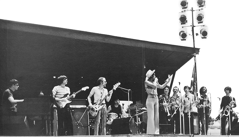 "Ten Wheel Drive played the Atlanta Pop Festival in 1969; this photo was in the centerfold of the group's album ""Ten Wheel Drive."""
