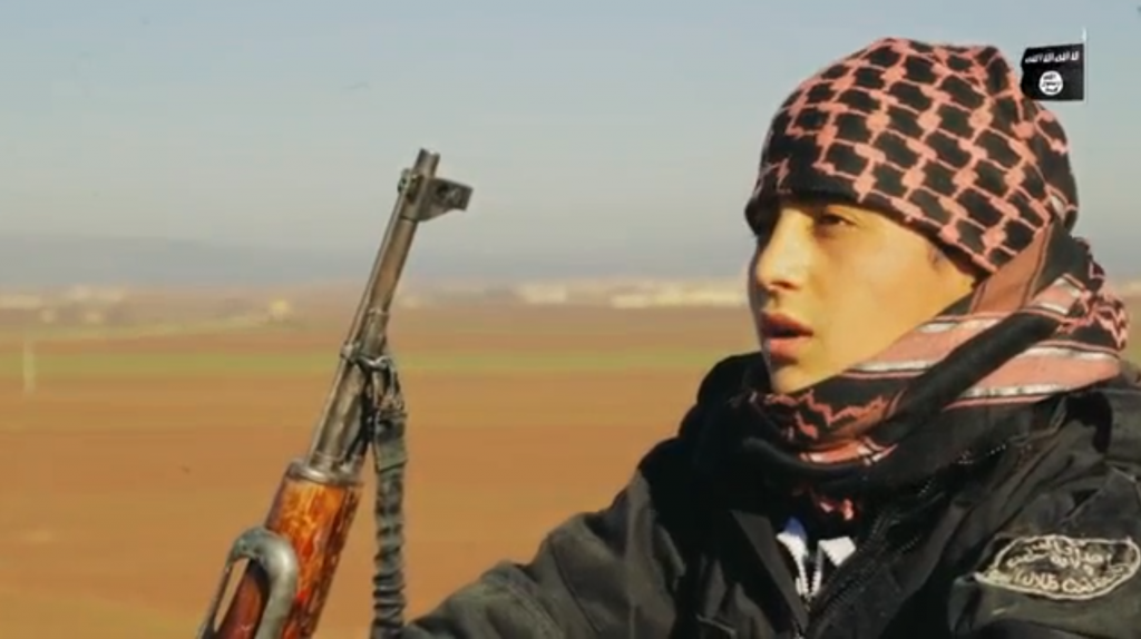 An Islamic State teen suicide bomber speaks in a propaganda video before going off on his mission. (screen capture: VideoPress)