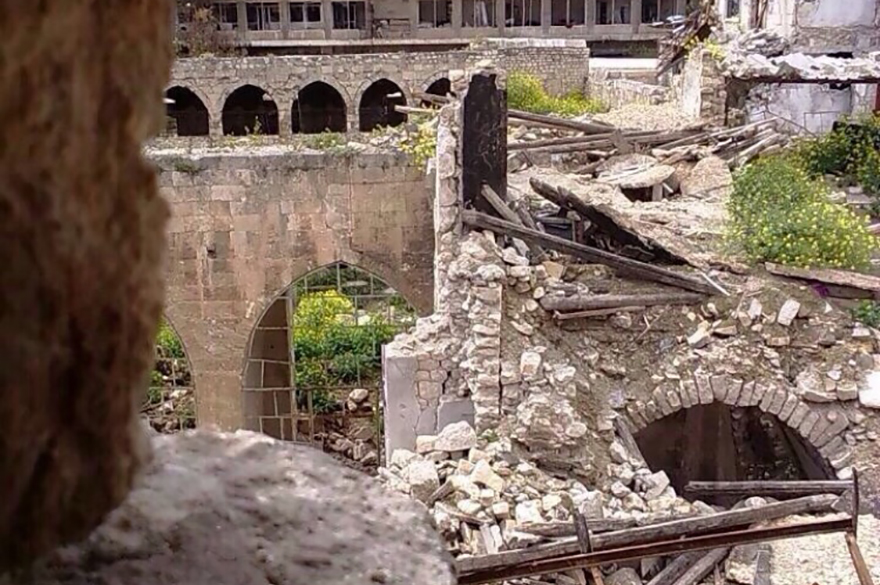 The Central Synagogue of Aleppo in January 2016. (Courtesy/Moti Kahana)