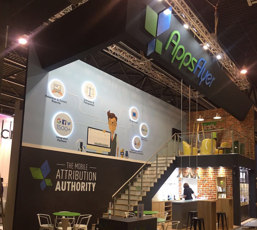 The AppsFlyer booth at Mobile World Congress 2016 (Courtesy)