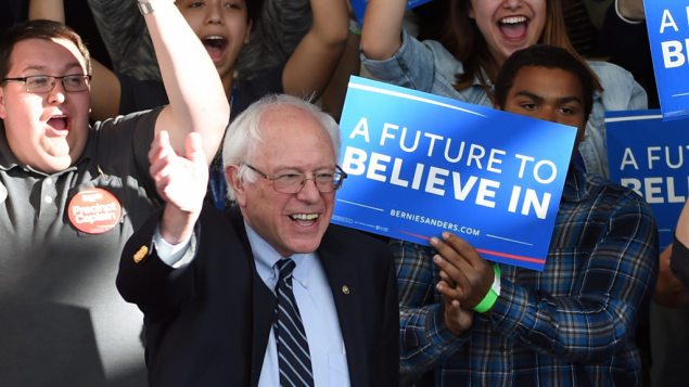 Bernie Sanders in Nevada. Getty Images
