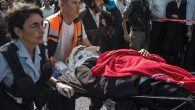 Israeli medics tend to a recent stabbing victim in Jerusalem, part of an ongoing spate of such attacks. Getty Images