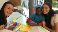 Write On For Israel students volunteering at Save A Children's Heart. JW/Linda Scherzer