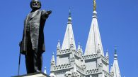 A statue of Brigham Young at the Mormon Temple in Salt Lake City, Utah. JTA
