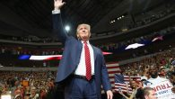 Donald Trump at a campaign rally at the American Airlines Center in Dallas, Sept. 14, 2015. JTA