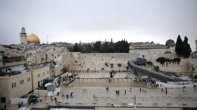 The Western Wall in the Old City of Jerusalem on a rainy day, Oct. 25, 2015. JTA