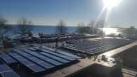 The solar panels on the roof of the Westchester Day School in Mamaroneck. Courtesy of Westchester Day School