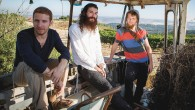 From left, Elisha Mlotek, Shlomo Gaisin, and Zachariah Goldschmiedt are Zusha.