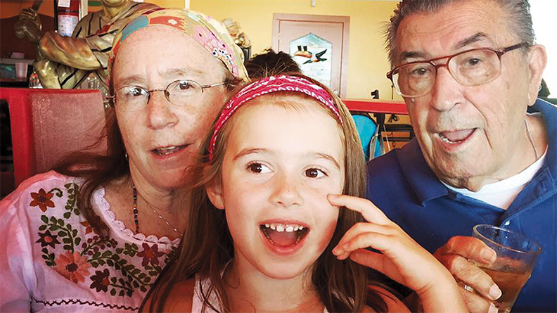 Siobhan Barry-Bratcher, her granddaughter, Alice Rose Ferrari, and her father, James Bratcher, on vacation at Seaside Heights last August.