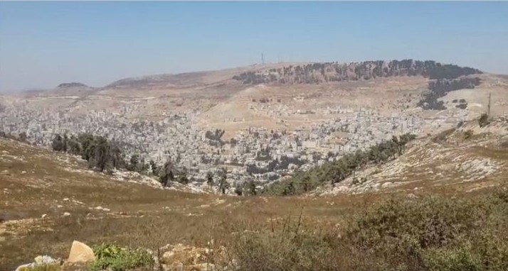 The settlement of Har Bracha in the northern West Bank in September 2014.