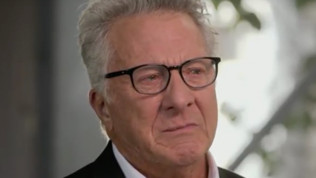 "Dustin Hoffman on the PBS show ""Finding Your Roots,"" March 8, 2016. JTA"