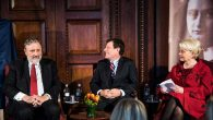 Dutch Ambassador Henne Schuwer, and award winners Nicholas Kristof and Cindy McCain. Courtesy Royal Netherlands Embassy