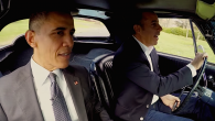 """President Obama with Jerry Seinfeld in an episode of """"Comedians in Cars Getting Coffee."""" JTA"""