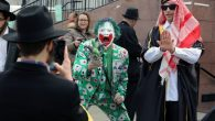 Eastern Parkway in Crown Heights was bursting with Purim spirit Thursday. Photos by Michael Datikash/JW