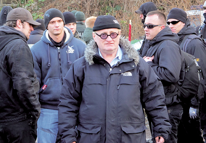 Tuvia is surrounded by neo-Nazis in Magdeburg.