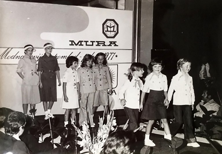 This picture provided by courtesy of Nena Bedek and taken in 1977 in Radenci, northeastern Slovenia, shows Slovenian-American former model and Donald Trump's wife Melania Trump (born Melanija Knavs) (2nd R) as a child, together with Nena Bedek (R), attending a fashion review of Jutranjka, the textile company where her mother used to work. (Nena Bedek/STR/AFP)
