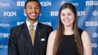 Newly elected BBYO international presidents Aaron Cooper of Winston-Salem, N.C., and Ellie Bodker of Overland Park, Kan. BBYO