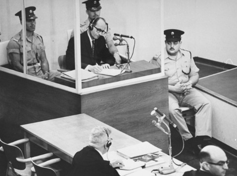 The 1962 trial of Adolf Eichmann in Jerusalem, after which the so-called 'architect' of the Holocaust was sentenced to death (Wikimedia Commons)