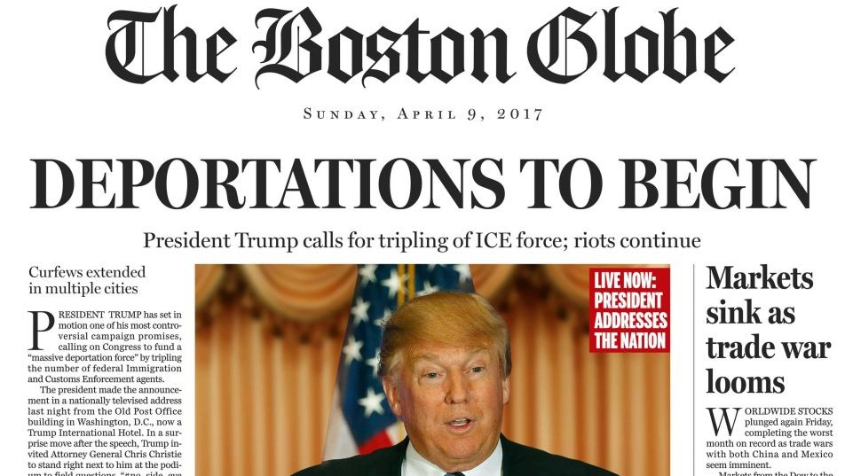 US newspaper publishes fake 'President Trump' front page | The ...