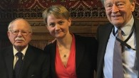 Rabbi Harry Jacobi, Yvette Cooper MP and Lord Dubs