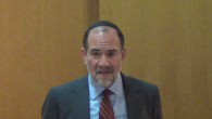 Rabbi Jonathan Rosenblatt speaking at the Riverdale Jewish Center in New York on Feb. 26, 2014. JTA