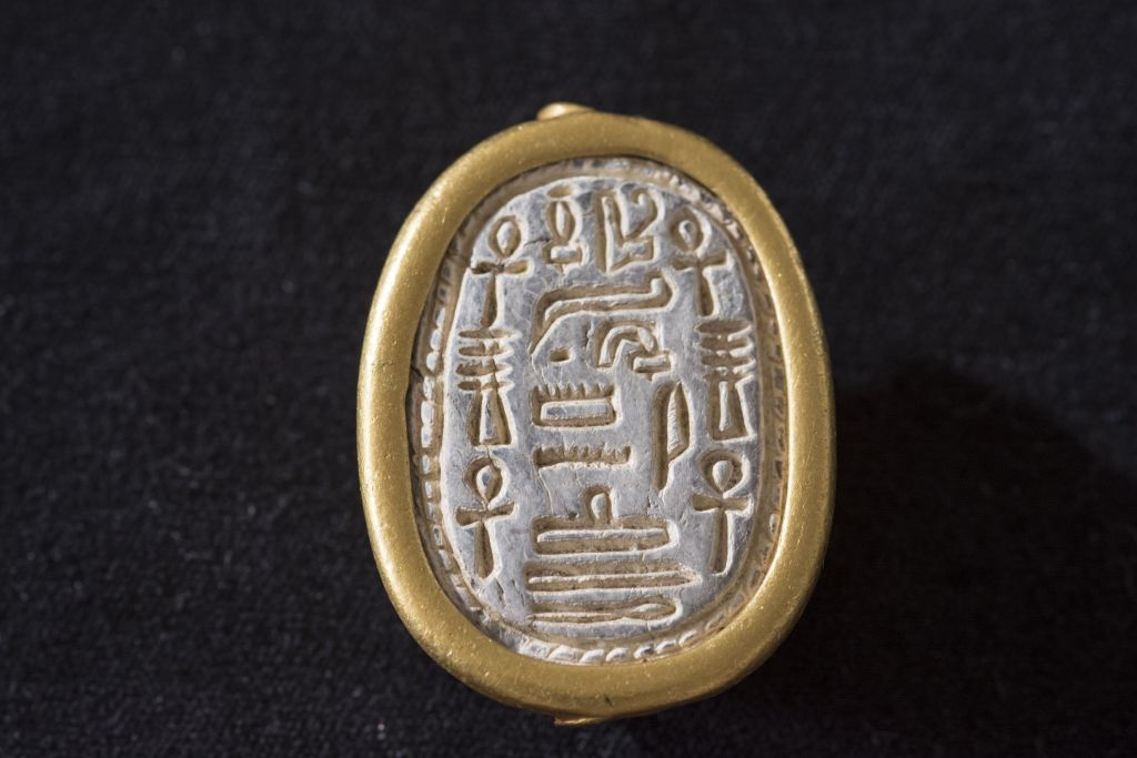 A 3,700-year-old scarab seal found by a birdwatcher at Tel Dor, in northern Israel, dated to the 13th Dynasty. (Tel Dor Excavations, courtesy)