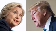 This file photo combination shows Democratic presidential candidate Hillary Clinton (L) on April 4, 2016 and Republican challenger Donald Trump on February 16, 2016. (AFP Photo/dsk)