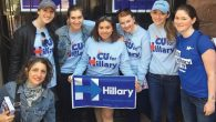 Columbia University Students forHillary group: Feminism and politics colliding. Courtesy of Columbia Students for Hillary