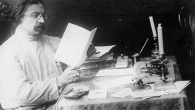 Sholem Aleichem at his writing desk. sholemaleichem.org