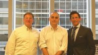 Jean Marc Orlando, center, flanked by his attorneys, Jonathan Sack, left, and Eric Stern.Jean Marc Orlando