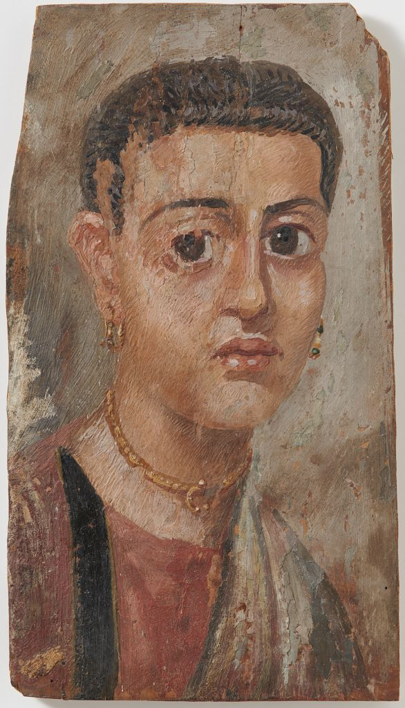 An Antonine-era mummy portrait of a young woman from the University of Zurich restituted to the heirs of a German Jewish publisher in April 2016. (Frank Tomio/University of Zurich)
