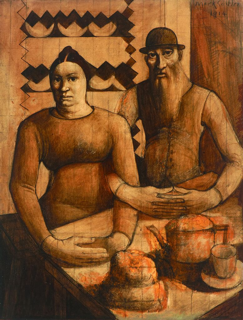 Rabbi and Rabbitzin, Mark Gertler, 1914