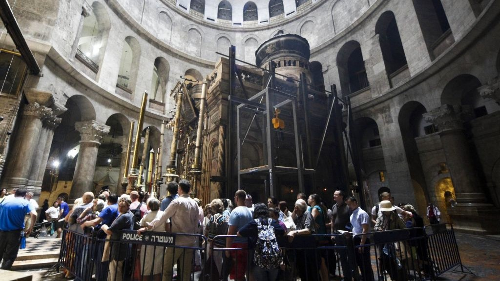 Image result for Jesus' Tomb Restored After Nine Months Of Work...