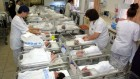 Illustrative photo of new born babies in a Jerusalem hospital. (Flash90)