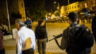 Police search Jerusalem for stabbing suspects. Getty Images