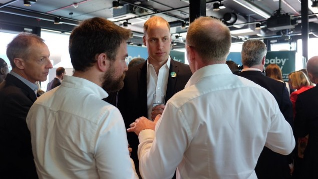 Jonny Benjamin and Neil Laybourne speaking with Prince William