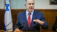 Benjamin Netanyahu leading the weekly cabinet meeting at the prime minister's office in Jerusalem, April 3, 2016. JTA