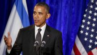 President Barack Obama speaking at the Righteous Among the Nations award ceremony at the Israeli Embassy in Washington, D.C. JTA