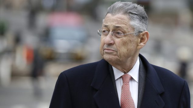 Former New York Assembly Speaker Sheldon Silver arriving at the courthouse in New York, Nov. 24, 2015. JTA