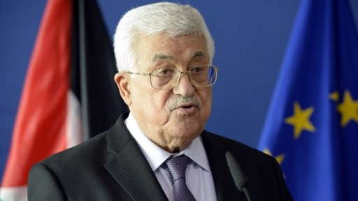 President of the Palestinian National Authority Mahmoud Abbas addresses the media at the European Union Commission headquarters in Brussels on June 22, 2016. (AFP PHOTO / THIERRY CHARLIER)