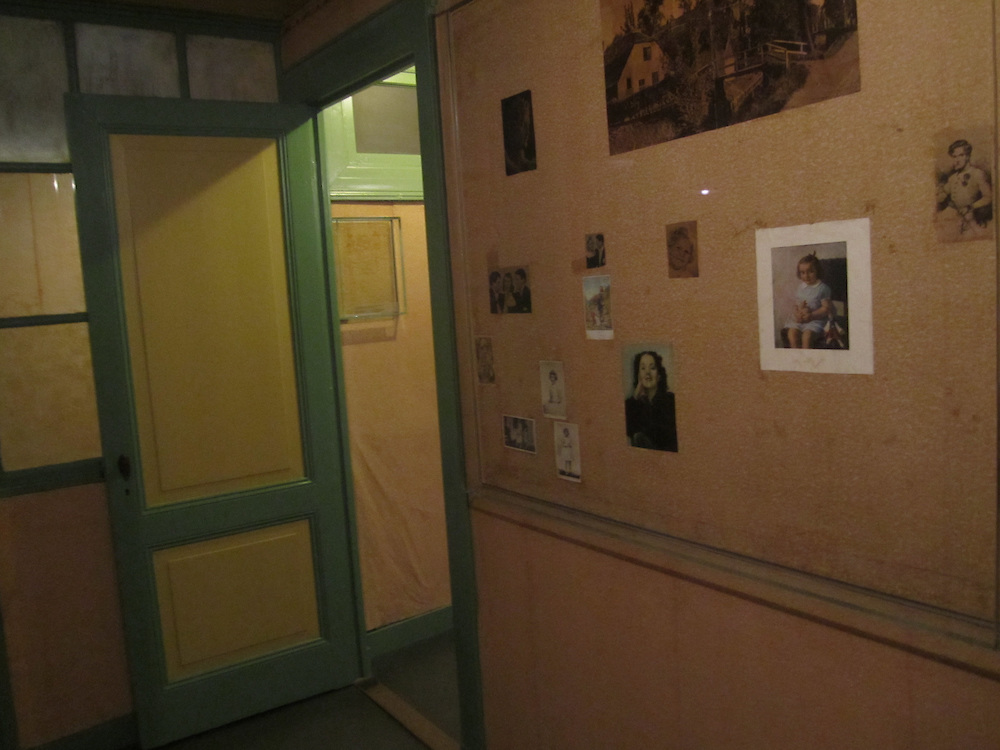 Anne Frank's former bedroom in the 'Secret Anne,' the heart of the Anne Frank House museum in Amsterdam, the Netherlands, 2012 (Matt Lebovic/The Times of Israel)