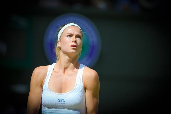 Camila giorgi suffered a first round exit on centre court picture