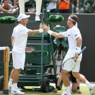 Dudi Sela with David Ferrer