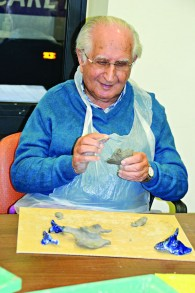 Dr Sydney Canter, pottery at Jewish Care's Michael Sobell Community Centre