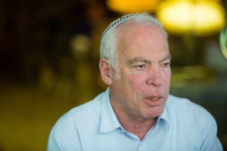 Agriculture Minister Uri Ariel seen in Jerusalem Old City on March 6, 2016. (Yonatan Sindel/Flash90)