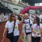 Jewish Deaf Association: Deafblind one km walker, JDA member Michael Corney.